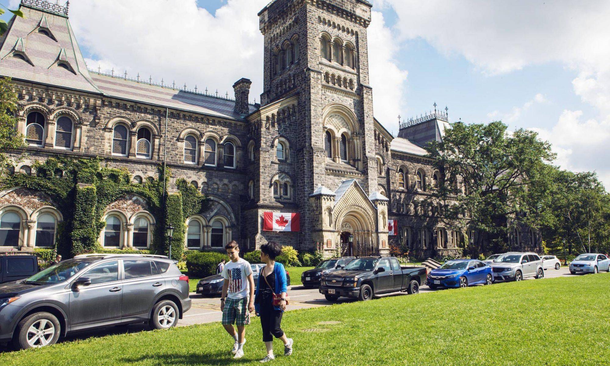 Aprendizaje en un campus de universidad en Canadá